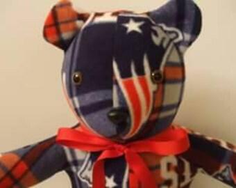 Patriots teddy bear, New England Bear, Patriots lover gift, football bear, patriots bear, Patriots toy, patriots stuffed bear, free shipping