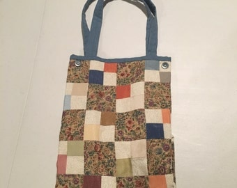 Quilted, patchwork tote bag