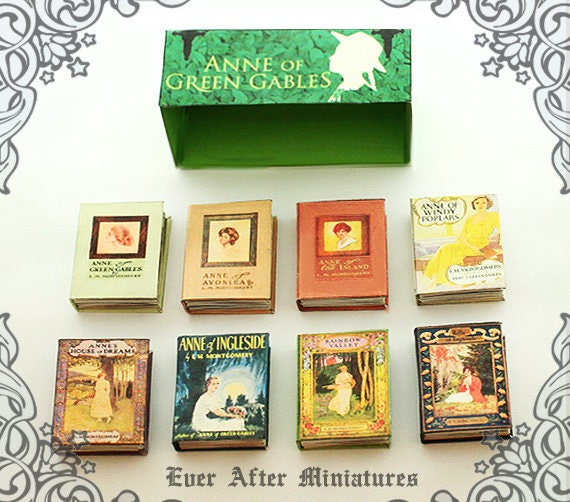 8 Anne Of Green Gables Dollhouse Miniature Book Set By