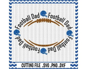 Football Dad Svg, Football Monogram Svg-Dxf-Png-Pdf, Cutting Files For Silhouette Cameo & Cricut, Svg Download.