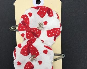 Fabric Flower Hair Clip Set