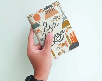 Bon Voyage ! - Personalized Passport Cover/Holder - Travel Passport Cover - High Quality Handmade Leather | TTG-PPC-015