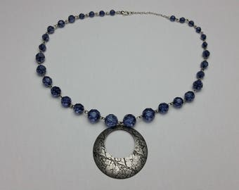 Blue Moon Floral Necklace