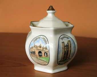 Cotswold Fine English Bone China - Six-sided Ginger Jar