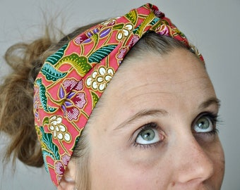 Headband P' little trickster Batik red/rose woman spring