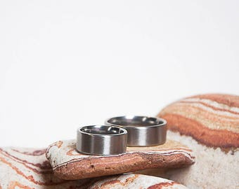 Couple Ring. Wedding band. Surgical stainless steel. Gift for couple. customise ring. customise size ring. Minimal ring bands. Handcrafted