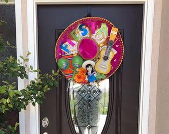 Sombrero Fiesta Wreath