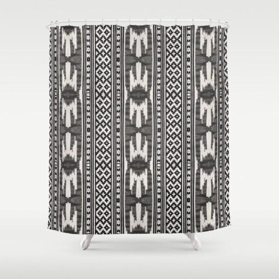 Boho Shower Curtain Tribal Print Shower Curtain Aztec