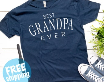 Best Grandpa Ever Shirt, Gifts for Grandpa, Best Papa Ever, Best Pawpaw, Fathers Day Shirt, Gift For Dad - Pregnancy reveal for grandparents