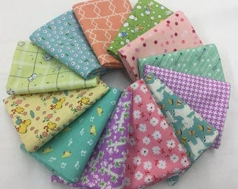 Baby Bright 12 fat quarters bundle