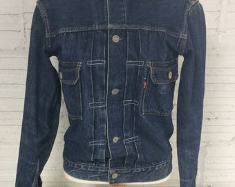 Levis True Vintage 'Big E' 1950's Indigo Blue /2nd issue Jacket/Size-Small