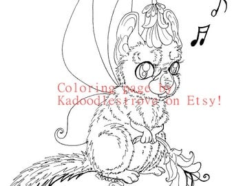 Fairy tangles printable coloring sheets by norma j burnell for Chinchilla coloring pages to print