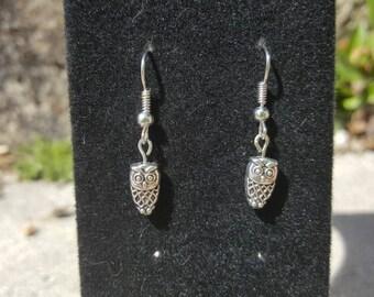 Tiny owl earrings