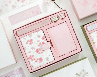 Cherry Blossom ART Hobonichi Style Cover with planner Box Set - perfect for daily planning use