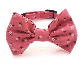 Floral Dog Collar - Dog Collar - Floral Fabric Dog Collar - Personalized Collar - Dog Collar - Dog Bow Collar - Dog Bow Wedding Dog Collar
