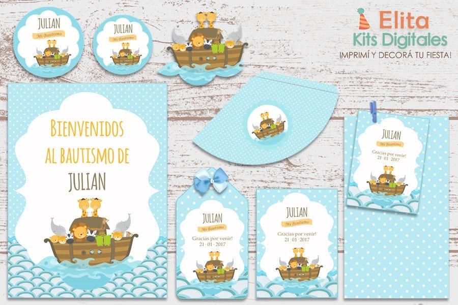 Printable Kit luxury Ark of Noah baptism 1 year old Baby Shower ...