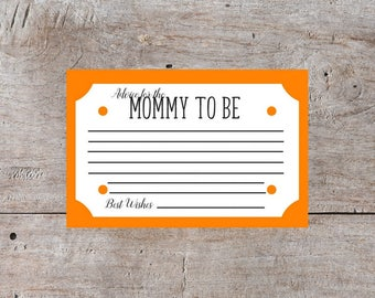 Mom to Be, Orange Baby Shower Cards, Baby Shower Printables, Baby Shower Game Ideas, Games for Baby Shower, Baby Shower Ideas
