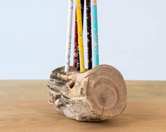 Wooden pen holder, wood desk organizer, wooden pencil holder, wood desk storage, Desk Organizer, Office Organization