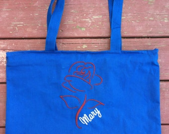 Royal Heavy Canvas Zipper Tote Bag with Long Handles