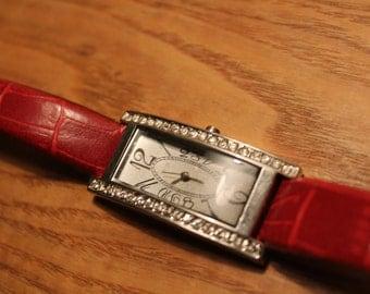 clock bracelet, -strass, function, 90s