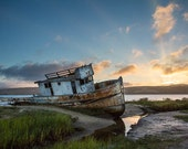 Point Reyes Boat Sunrise,...