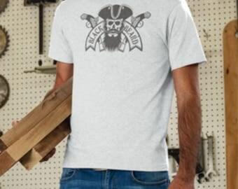 Black Beard the Pirate Print T-Shirt, Pirate & Pistols Print, Pirate Skull T-Shirt, Bearded Pirate T-Shirt, Pistols and Pirate print t-Shirt