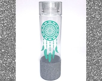 32 oz glitter water bottle water intake tracker gym water bottle at the