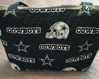 Dallas Cowboys quilted tote bag