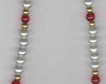Her Majesty Satin Pearl Beaded Necklace