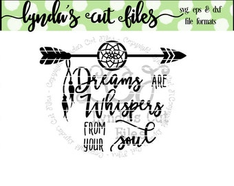 Dreams are Whispers// SVG/DXF/EPS file