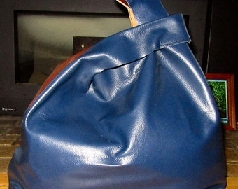 Handmade Leather shopper bag, leather grocery bag,leather slouch bag,leather purse
