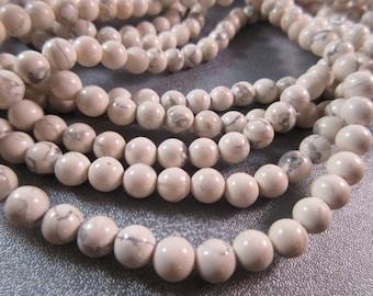Howlite 6mm Round Beads 65pcs