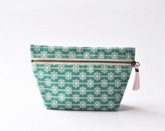 Cosmetic Bag, Makeup Bag, Makeup Pouch, Zipper Pouch ~ Tosca Snow