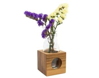 Flower vase | Vase from wood Acacia | Milk jug | A great eye-catcher
