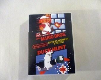 Super Mario Bros. / Duck Hunt   Custom NES - Nintendo Case (No Game)