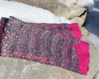 Leg warmers hand felted