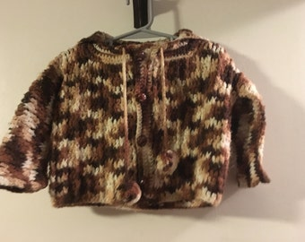 Hand knitted Childs jacket