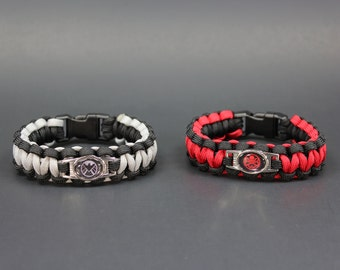 Shield vs. Hydra - NEMESIS Collection - Paracord Bracelet (please be sure to read sizing instructions before ordering)