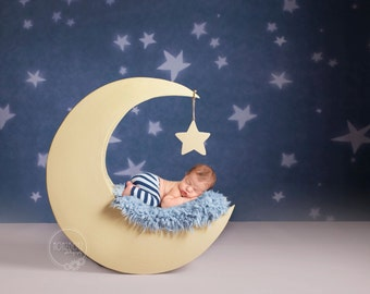 Digital Backdrops/Props (Newborn Moon Prop With Purple, Blue and Cream Furs) 3 digital downloads in this package.