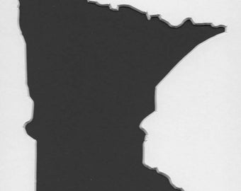 Minnesota Stencil Made from 4 Ply Mat Board