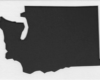 Pack of 3 Washington State Stencils, Made from 4 Ply Mat Board 18x24, 16x20 and 11x14