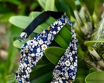 Floral Self Bow Tie Floral Boyfriend Gift Men's Gift Anniversary Gift for Men Husband Gift Wedding  Gift For Him Groomsmen Gift Men's Gift