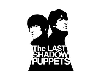 The Last Shadow Puppets Decal - Alex Turner / Miles Kane / British Decor / Rock Art