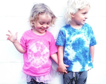 Pink Tie Dye Toddler Shirt