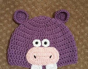 Crocheted Hippo Hat