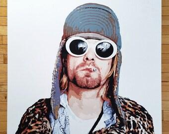 Kurt Cobain // Original Acrylic Painting, Nirvana