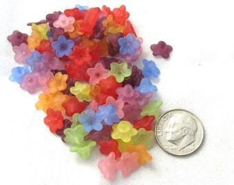 800 Asst. Flower Acrylic Beads 10x5mm (B3)