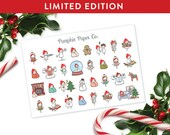LIMITED EDITION Christmas mini sampler, planner stickers, christmas stickers, christmas countdown, MINI size