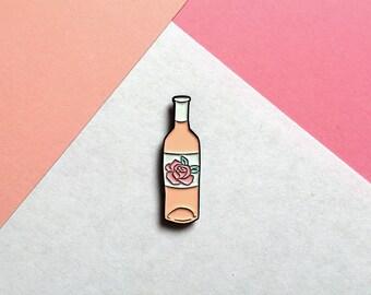 Rosé Wine Enamel Pin Badge - Blush / Basic Wine pin