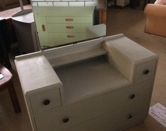 Hand painted dresser with mirror 45